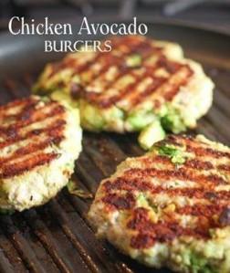 Chicken & Avocado burgers
