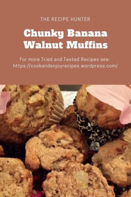 Es's Chunky Banana Walnut Muffins