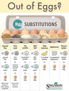 Out of Eggs – substitutes