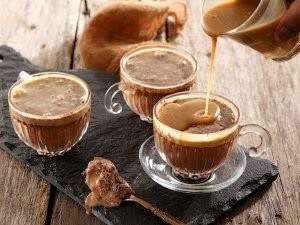 Chocolate mousse with butterscotch