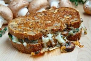 Mushroom Grilled Cheese Sandwich
