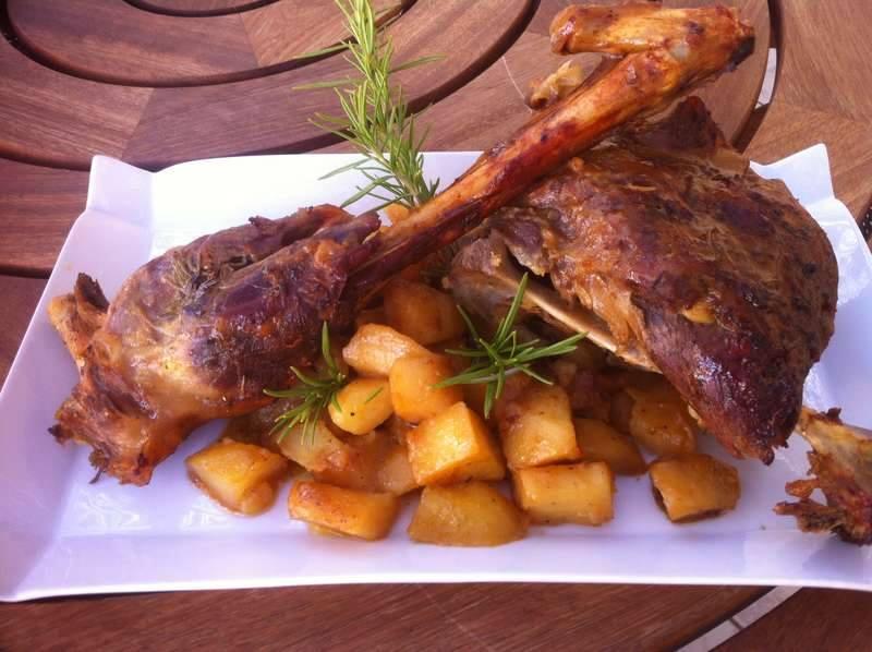 Honey-glazed Greek Roast Lamb with Potatoes