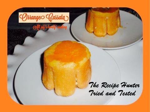 TRH Cassata with Candied orange slices