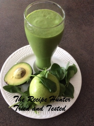 TRH Green apple and avo smoothie