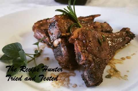 Rosemary & Balsamic Vinegar Marinated Lamb chops | The Recipe Hunter