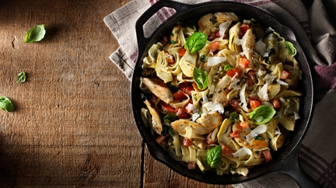 ARTICHOKE ASIAGO CHICKEN & PASTA