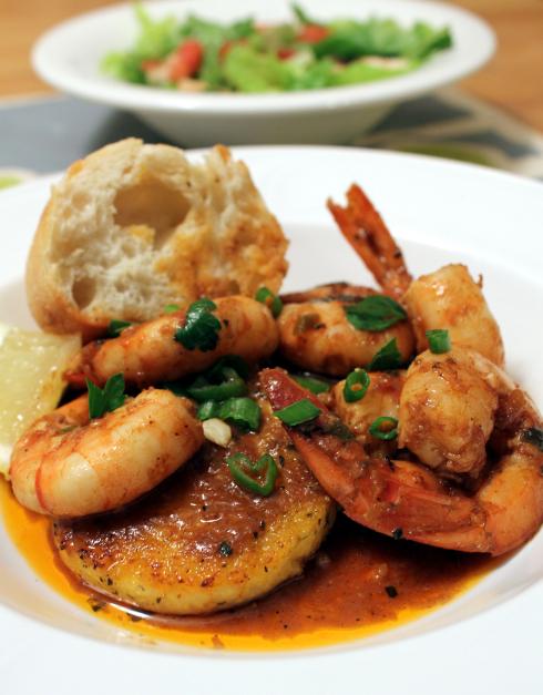 BBQ Shrimp with Fried Polenta Cakes.jpg