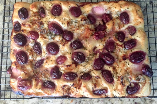 focaccia-with-grapes-roquefort-and-truffled-honey