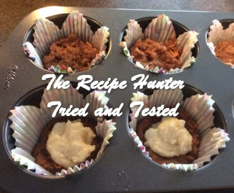 TRH Es's Gluten-Free Carrot Cupcakes with Creamcheese filling
