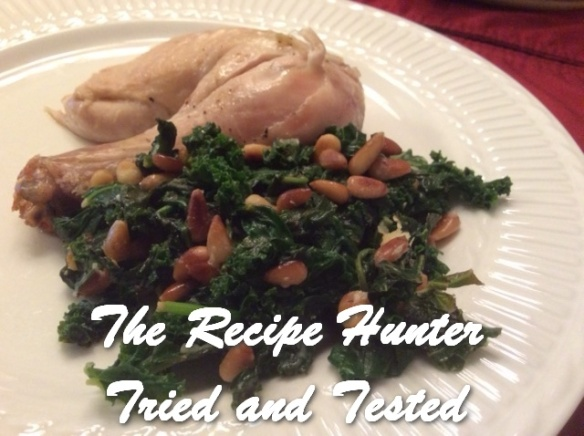 TRH Es's Roast Chicken with Tarragon and Lemon with Kale and Spinach2