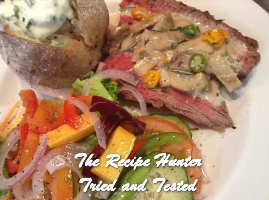 TRH Gail's Beef Fillet with Mushroom & Brandy Cream Sauce