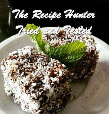 TRH Irene's Lamingtons with Choc-coffee Sauce