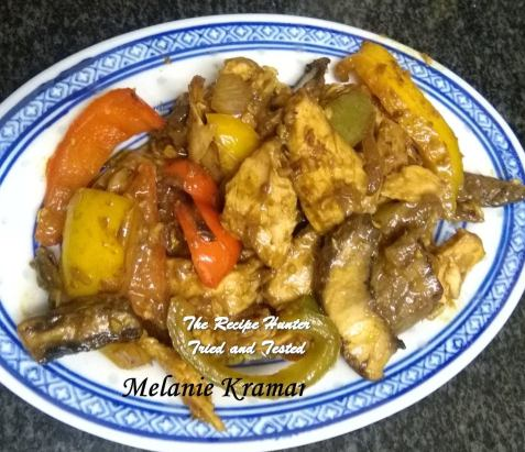 TRH Melanie's Satay Chicken with Peppers and Mushroom