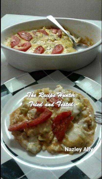 TRH Nazley's Spicey, sweet & tangy chicken tagliatelle bake