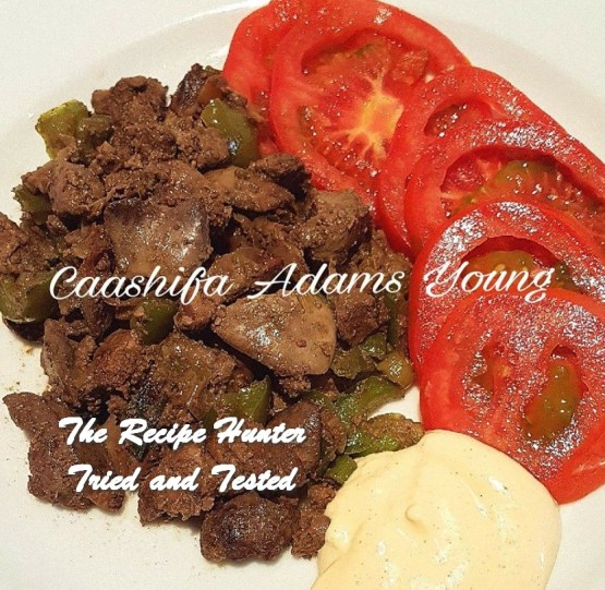 TRH Caashifa's Chicken Livers with Peppers