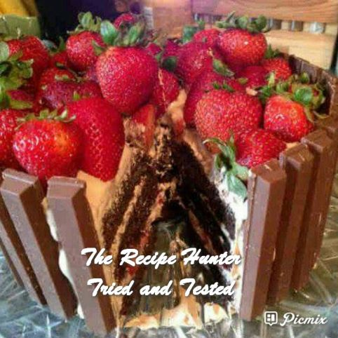 TRH Feriel Sonday's Chocolate, strawberry, fresh cream and kit kat cake.jpg
