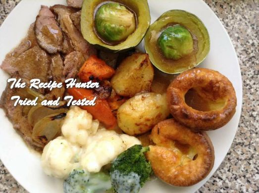 TRH Gail's Yummy Roast Beef, vegetables and Yorkshire Puddings