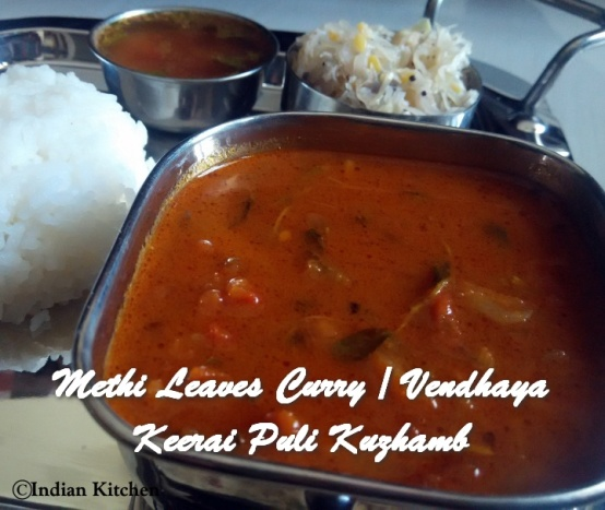 TRH Methi Leaves Curry Vendhaya Keerai Puli Kuzhamb