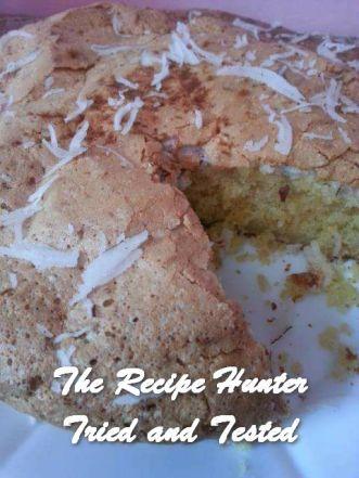 TRH Rashida's Coconut Macaroon Cake