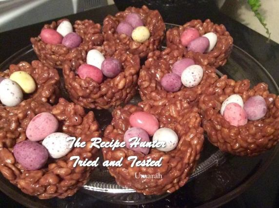 TRH Umarah's Chocolate Rice Crispies Nests