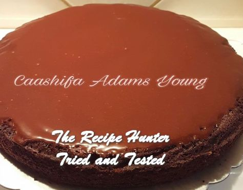TRH Caashifa's LC Olive Oil Choc Cake with Orange Choc Ganache