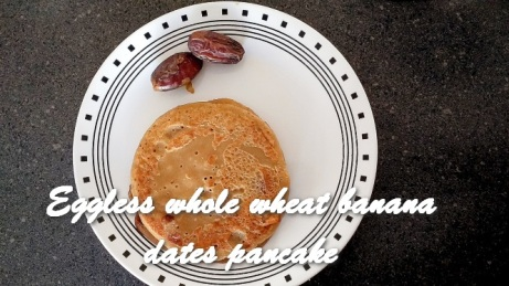 TRH Eggless whole wheat banana dates pancake
