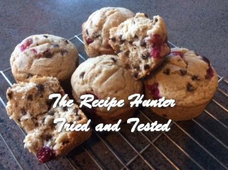 TRH Es's Cheat Gluten Free Chocolaty Banana and Cranberry Muffin