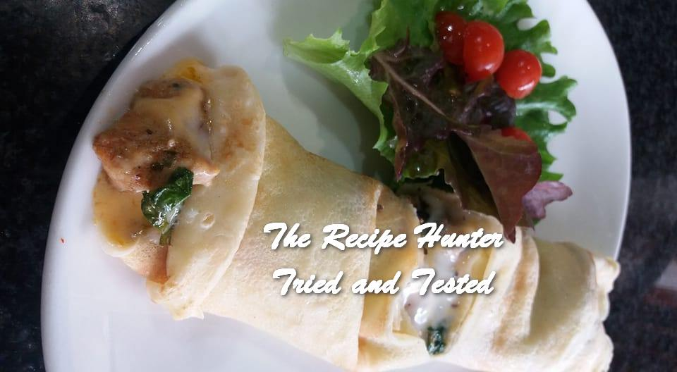 TRH Feriel's Spinach, Chicken and Mushroom and Coconut Pancakes