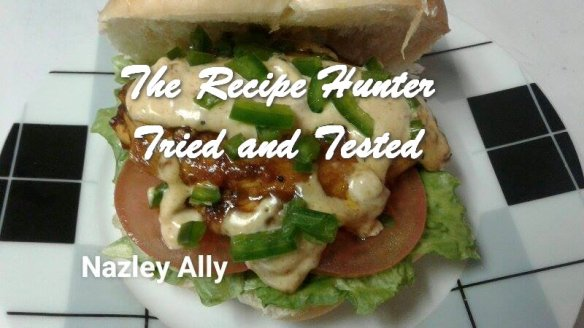 TRH Nazley's Homemade chicken burgers