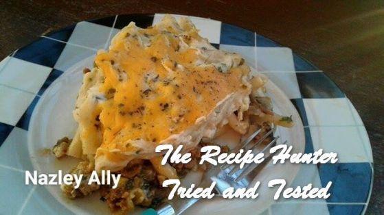 TRH Nazley's Mince and mushroom Lasagne