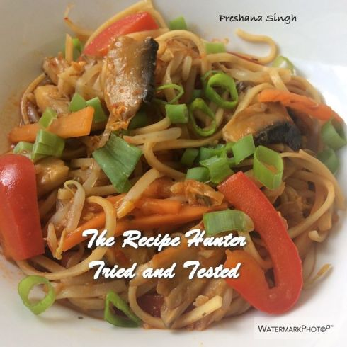 TRH Preshana's Vegetable Hakka Noodles(Vegetable Chow Mein)