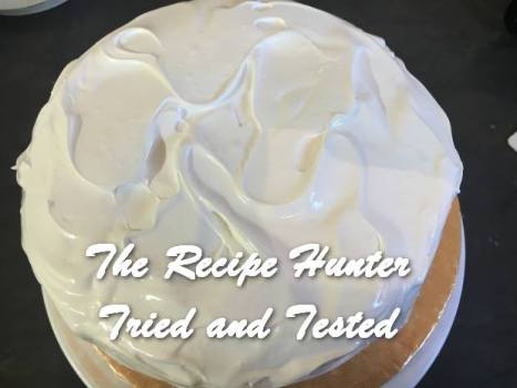 TRH Bobby's Lemon curd cake with meringue icing