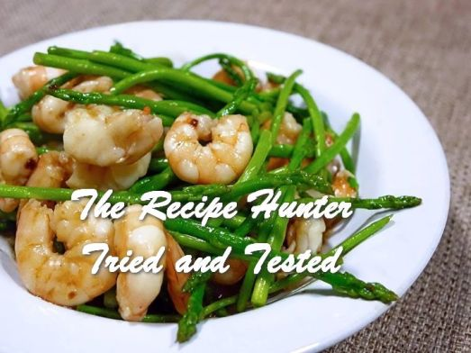 TRH Carol's Asparagus and Prawn stir fry
