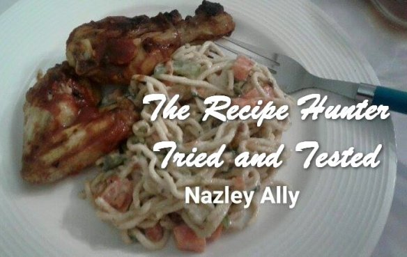 TRH Nazley's Creamy Chinese Noodles with Tangy Spicey Chicken