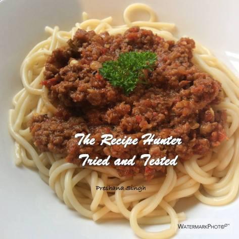 TRH Preshana's Spaghetti Bolognese
