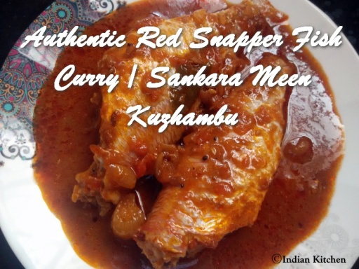 Authentic Red Snapper Fish Curry