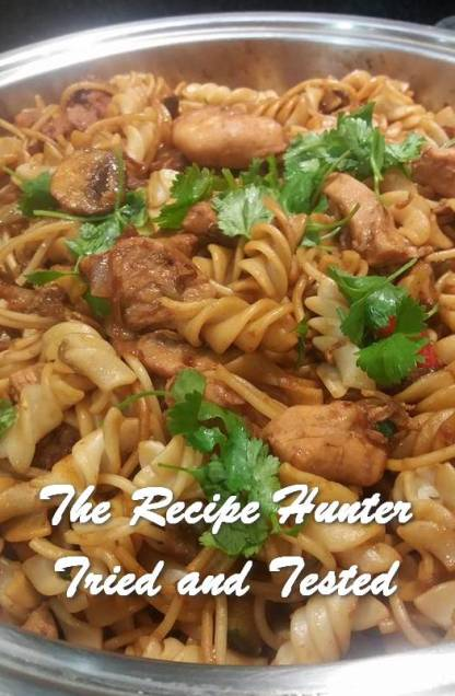 Feriel's Chicken OR Steak Pasta Stir Fry