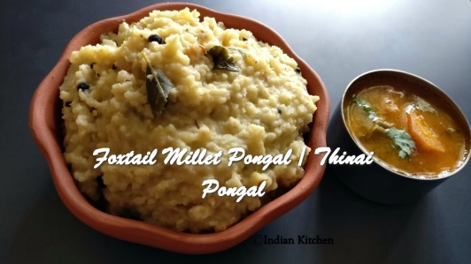 Foxtail Millet Pongal Thinai Pongal