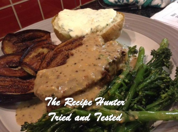 Gail's Fillet Steak Medallions with Peppercorn Sauce