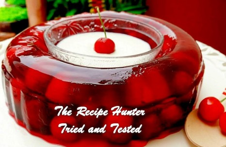 Harjeet Kaur_s Fresh Cherry Jelly with Sweetened Cream