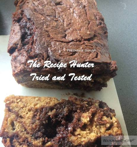 Preshana's Seriously Gooey Nutella Banana Bread