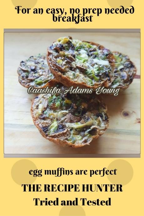 Caashifa's Mushroom and Leek Egg Muffin