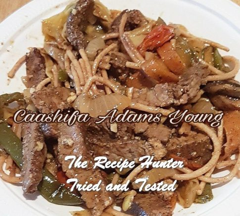 Caashifa's Steak Stir Fry
