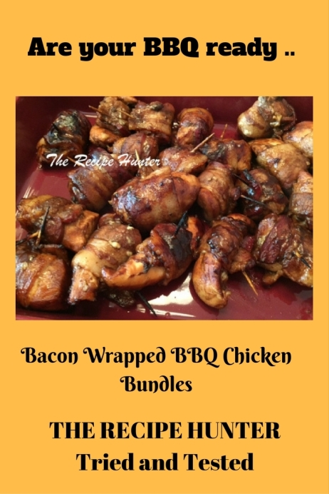 Es's Bacon Wrapped BBQ Chicken Bundles