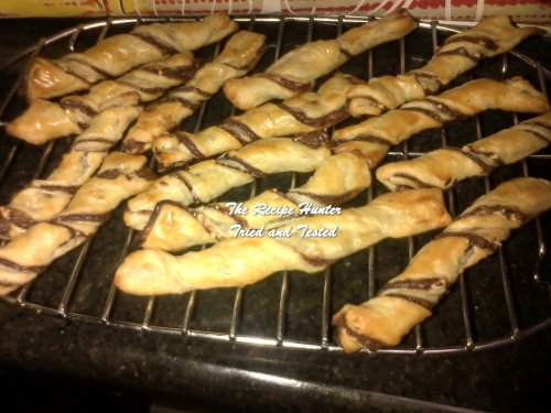 Melenie's Nutella pastry twists
