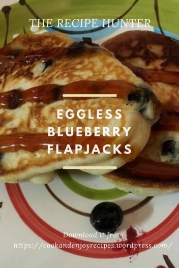 Eggless Blueberry Flapjacks