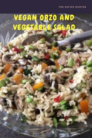 Vegan Orzo and Vegetable Salad