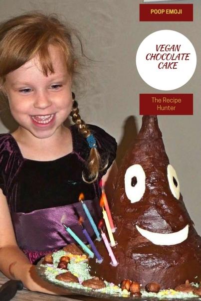 VEGAN POOP EMOJI CHOCOLATE CAKE