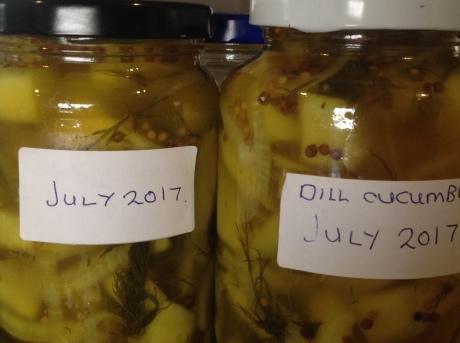 in jars..pickled