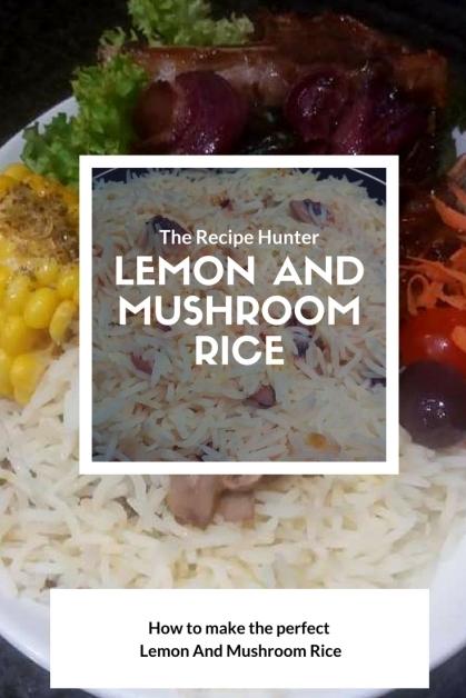 Lemon and Mushroom rice